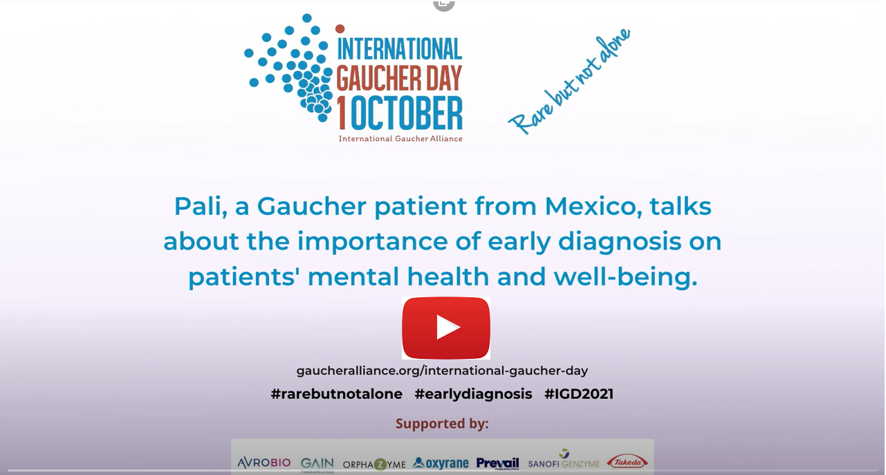 Pali, a Gaucher patient from Mexico, talks about the importance of early diagnosis on patients' mental health and well-being.